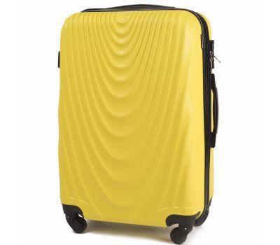 Пластиковый чемодан на колесах Wings 304 средний желтый