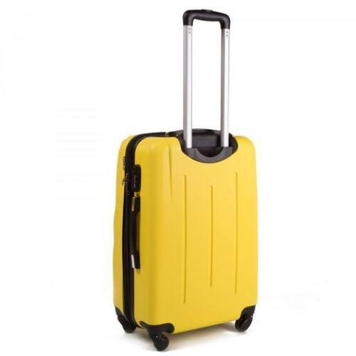 Пластиковый чемодан на колесах Wings 304 средний голубой