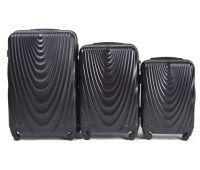Набор чемоданов на колесах Wings 304 3 штуки черный
