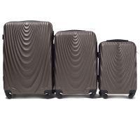 Набор чемоданов на колесах Wings 304 3 штуки кофейный