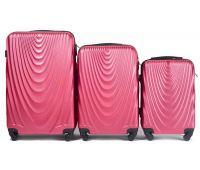 Набор чемоданов на колесах Wings 304 3 штуки розовый