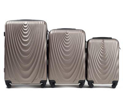 Набор чемоданов на колесах Wings 304 3 штуки шампань