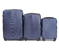 Набор чемоданов на колесах Wings 304 3 штуки синий