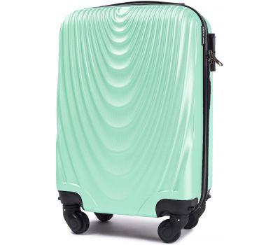 Пластиковый чемодан Wings 304 мини ручная кладь мятный