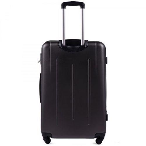 Пластиковый чемодан на колесах Wings 304 большой серый