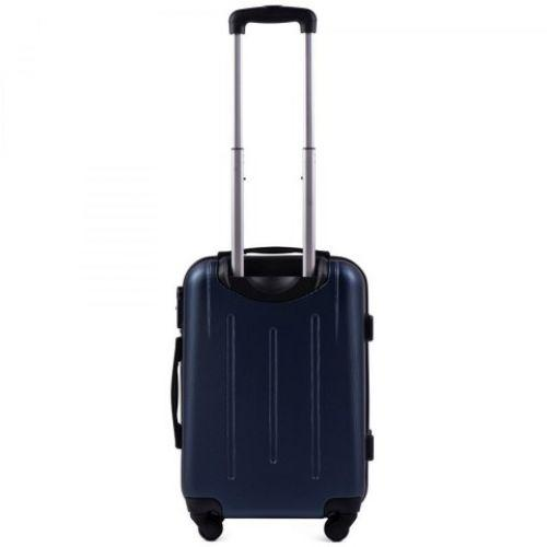 Пластиковый чемодан на колесах Wings 304 маленький темно-синий