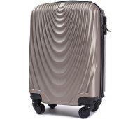 Пластиковый чемодан Wings 304 мини ручная кладь шампань