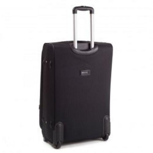 Тканевый чемодан Wings 1708 большой на 2 колесах черный