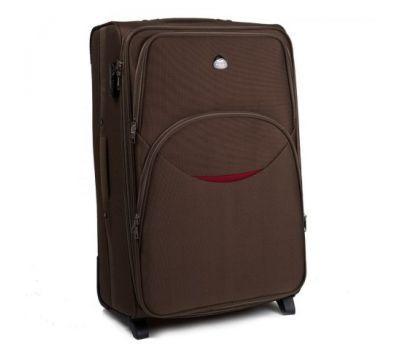 Тканевый чемодан Wings 1708 большой на 2 колесах кофейный