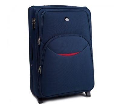 Тканевый чемодан Wings 1708 большой на 2 колесах синий