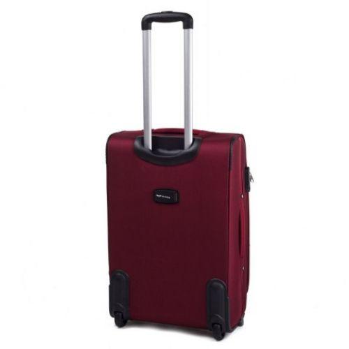 Тканевый чемодан Wings 1708 маленький на 2 колесах бордовый