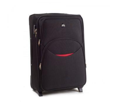 Тканевый чемодан Wings 1708 маленький на 2 колесах черный
