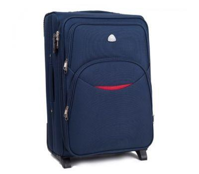 Тканевый чемодан Wings 1708 маленький на 2 колесах синий