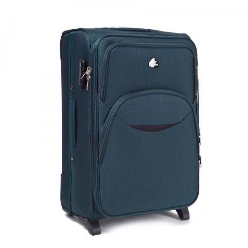Набор тканевых чемоданов Wings 1708 3 штуки на 2 колесах изумрудный
