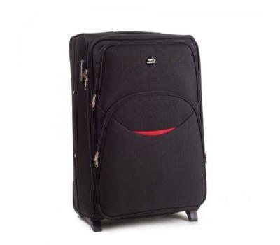 Тканевый чемодан Wings 1708 средний на 2 колесах черный