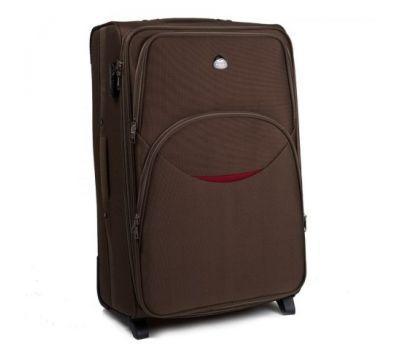 Тканевый чемодан Wings 1708 средний на 2 колесах кофейный