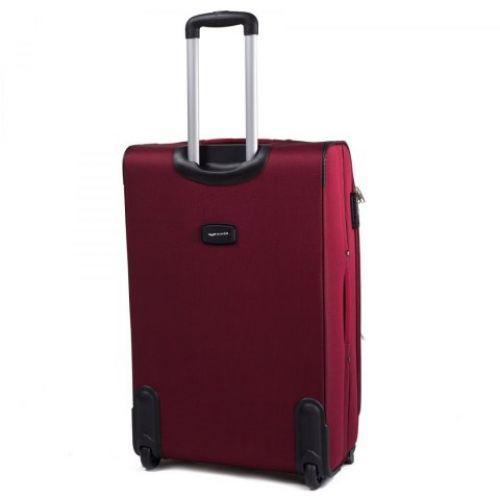 Тканевый чемодан Wings 1708 большой на 2 колесах бордовый