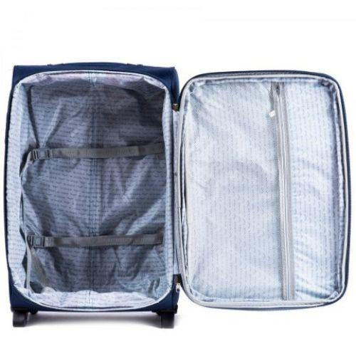 Тканевый чемодан Wings 1708 большой на 4 колесах коричневый