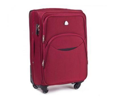 Тканевый чемодан Wings 1708 большой на 4 колесах красный