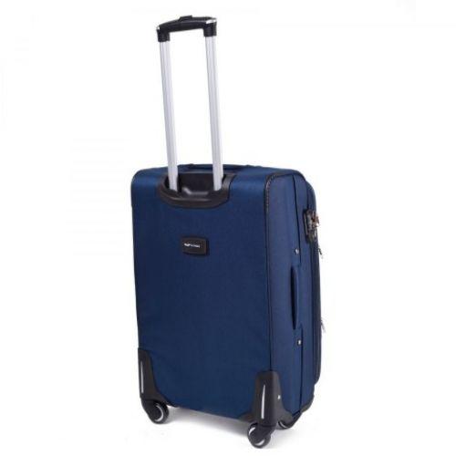 Тканевый чемодан Wings 1708 маленький на 4 колесах синий