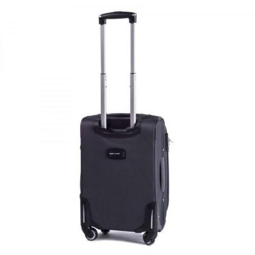Тканевый чемодан Wings 1708 маленький на 4 колесах серый