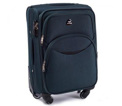 Тканевый чемодан Wings 1708 маленький на 4 колесах изумрудный