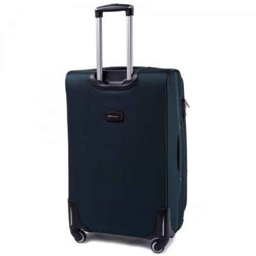 Тканевый чемодан Wings 1708 средний на 4 колесах изумрудный