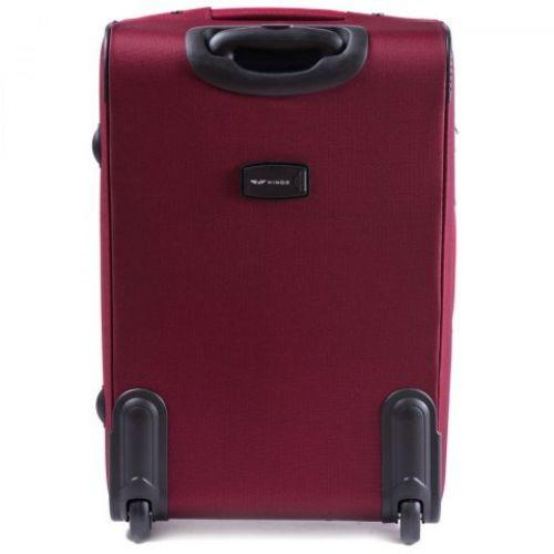 Тканевый чемодан Wings 6802 большой на 2 колесах бордовый