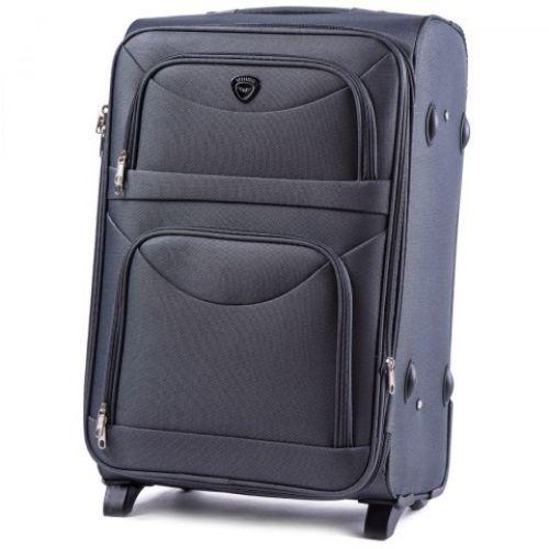 Набор тканевых чемоданов Wings 6802 3 штуки на 2-х колесах серый