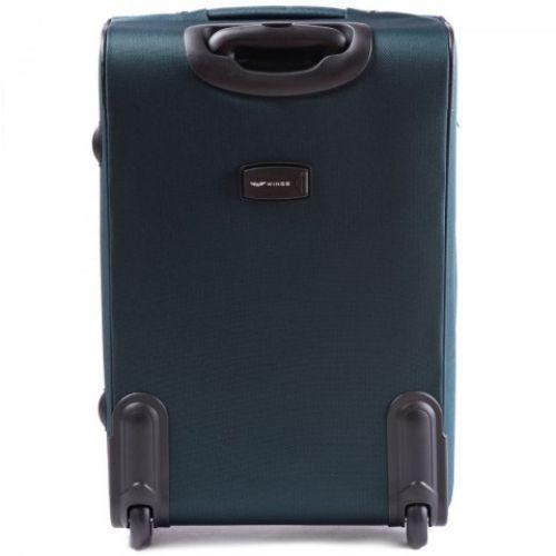 Набор тканевых чемоданов Wings 6802 3 штуки на 2-х колесах зеленый