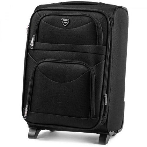 Набор тканевых чемоданов Wings 6802 3 штуки на 2-х колесах черный
