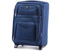 Тканевый чемодан Wings 6802 маленький на 2-х колесах синий