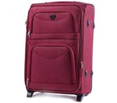 Тканевый чемодан Wings 6802 средний на 2-х колесах бордовый