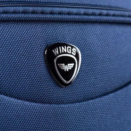 Тканевый чемодан Wings 6802 средний на 2-х колесах зеленый