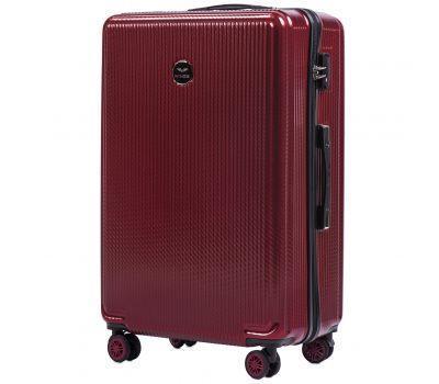 Поликарбонатный чемодан Wings African 565 большой бордовый