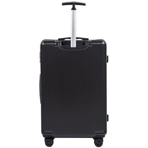 Набор чемоданов из поликарбоната Wings African 565 3 штуки черный
