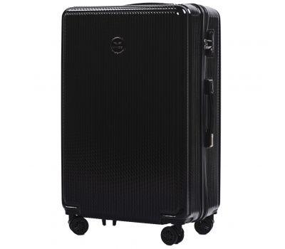 Поликарбонатный чемодан Wings African 565 большой черный