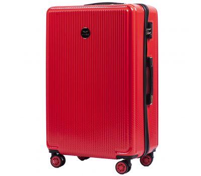 Поликарбонатный чемодан Wings African 565 большой красный