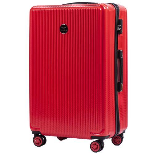 Набор чемоданов из поликарбоната Wings African 565 3 штуки красный