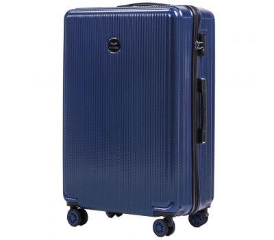 Поликарбонатный чемодан Wings African 565 большой middle blue