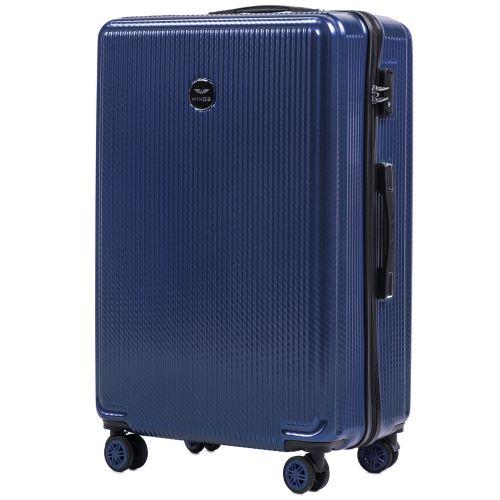 Набор чемоданов из поликарбоната Wings African 565 3 штуки middle blue