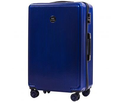 Поликарбонатный чемодан Wings African 565 большой синий