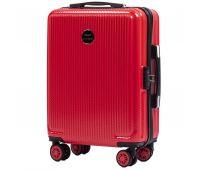 Поликарбонатный чемодан Wings African 565 маленький красный