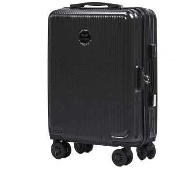 Поликарбонатный чемодан Wings African 565 маленький серый