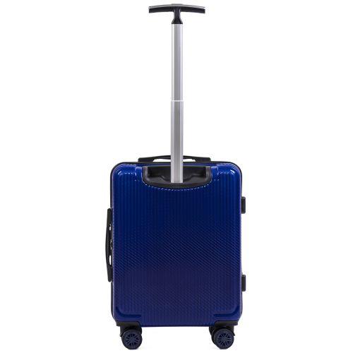 Поликарбонатный чемодан Wings African 565 маленький синий