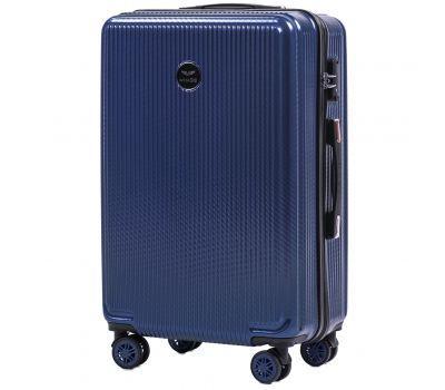 Поликарбонатный чемодан Wings African 565 средний middle blue