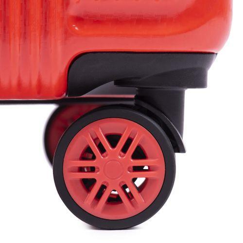 Поликарбонатный чемодан Wings African 565 маленький бордовый