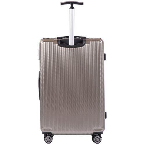 Набор чемоданов из поликарбоната Wings African 565 3 штуки бронзовый
