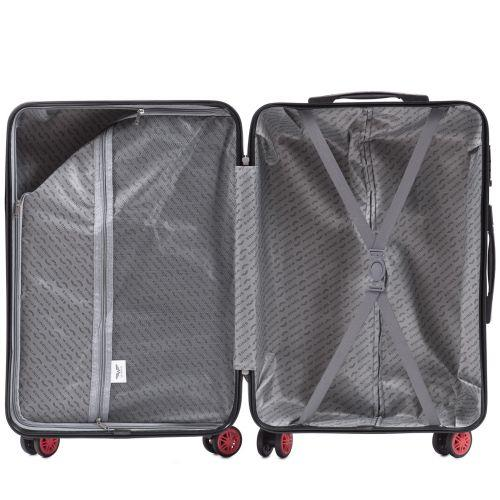 Поликарбонатный чемодан Wings African 565 средний бордовый