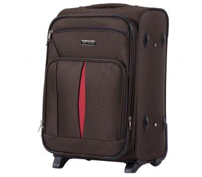 Тканевый чемодан Wings Barn Owl 1601 маленький S на 2 колесах кофейный